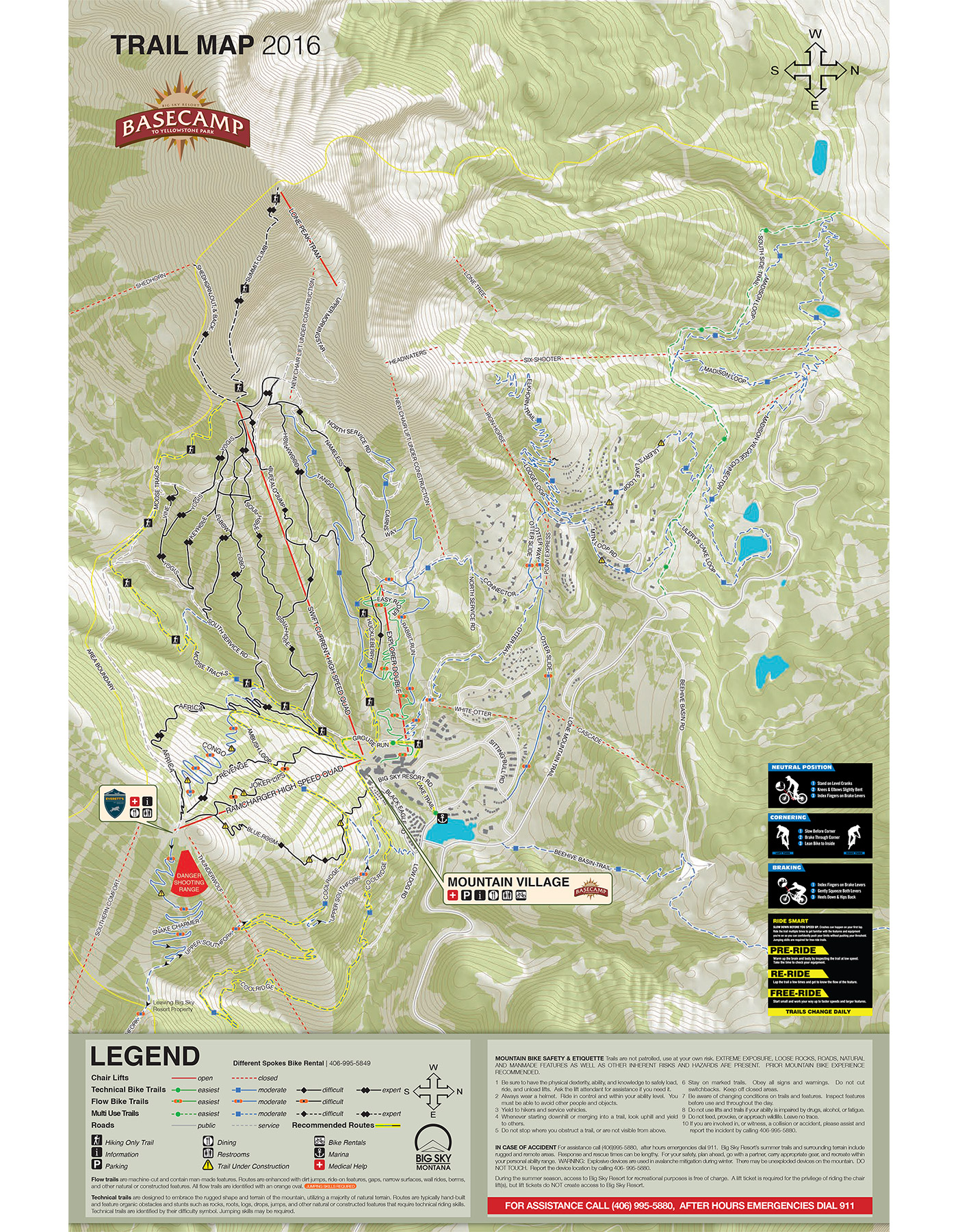 Big Sky Summer Recreation Map