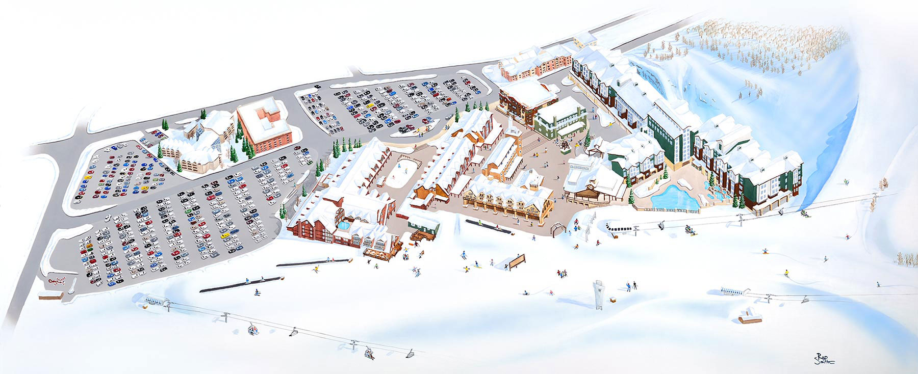 Park City Village Map Illustration