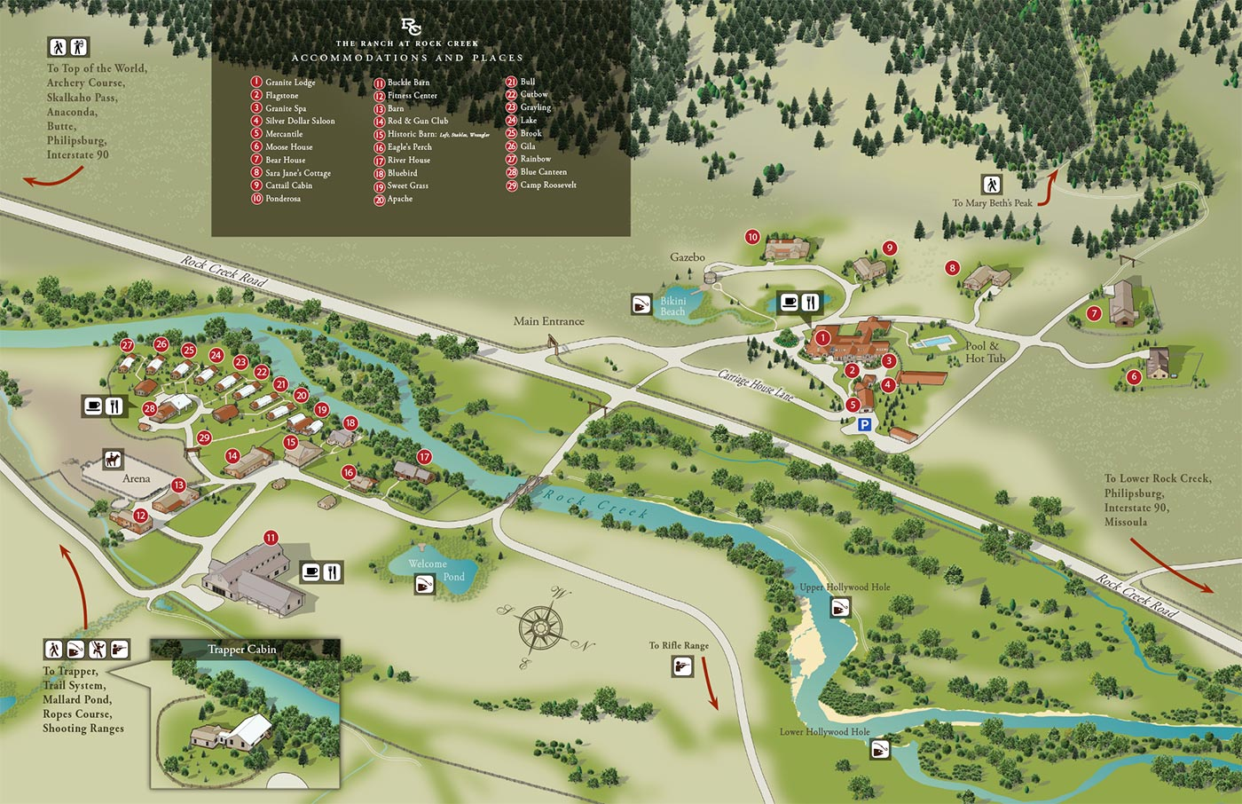 The Ranch At Rock Creek Illustrated Map