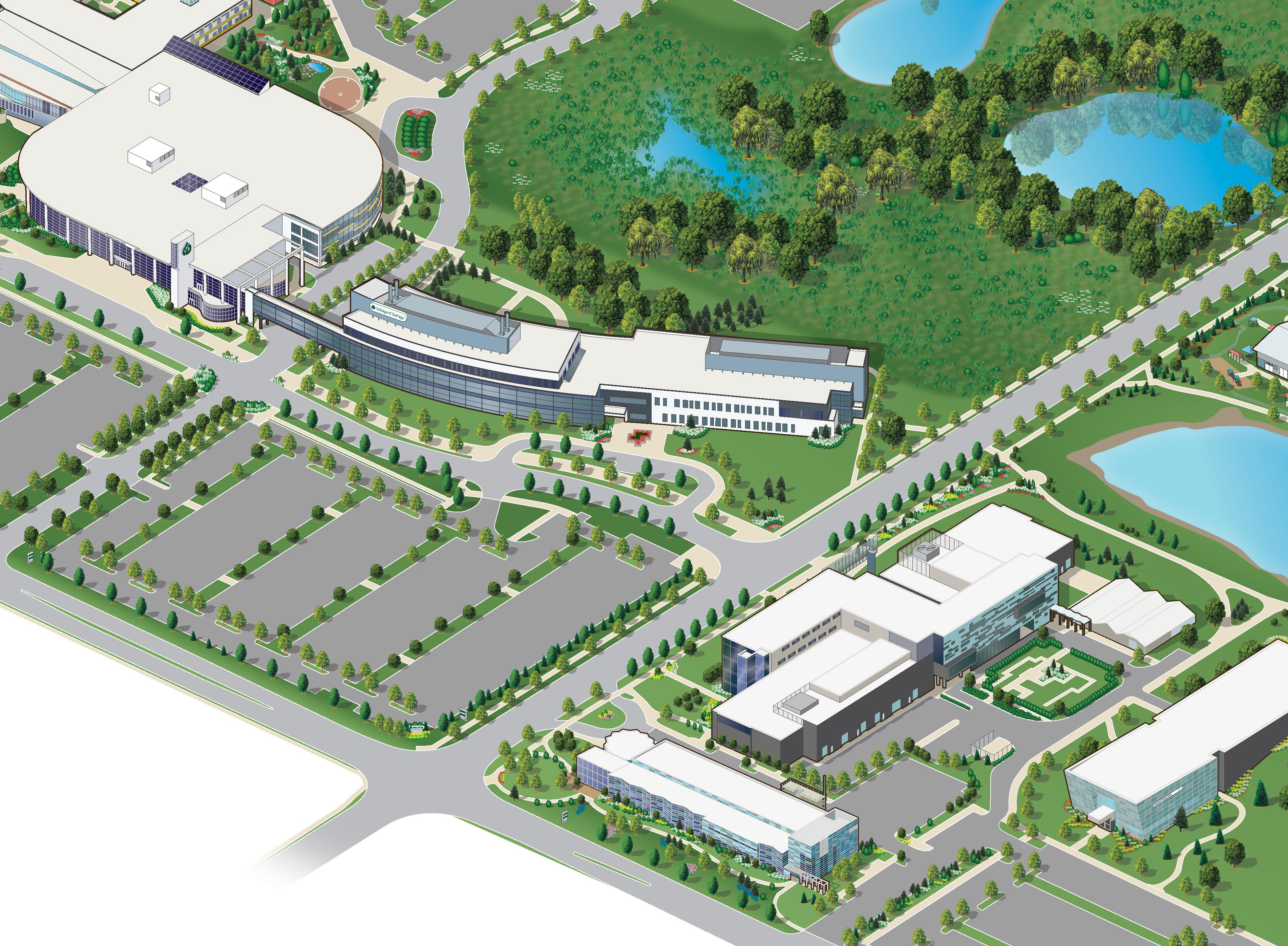 College Of Dupage Campus Map College of Dupage Illustrated Campus Map