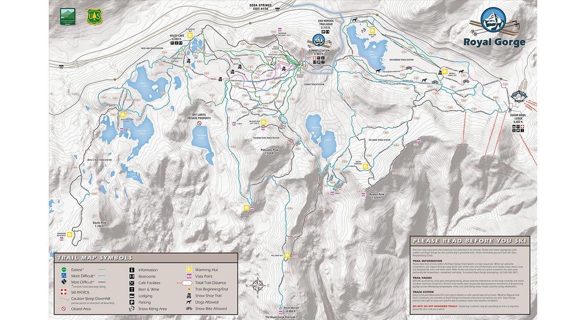 Royal Gorge Cross Country Ski Trail Map